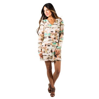 Women's Long Sleeve Beach Printed Romper