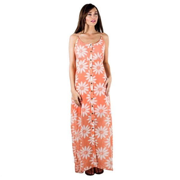 Women's Floral Printed Tank Maxi Dress