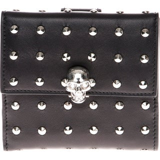 Alexander McQueen Studded Skull French Wallet