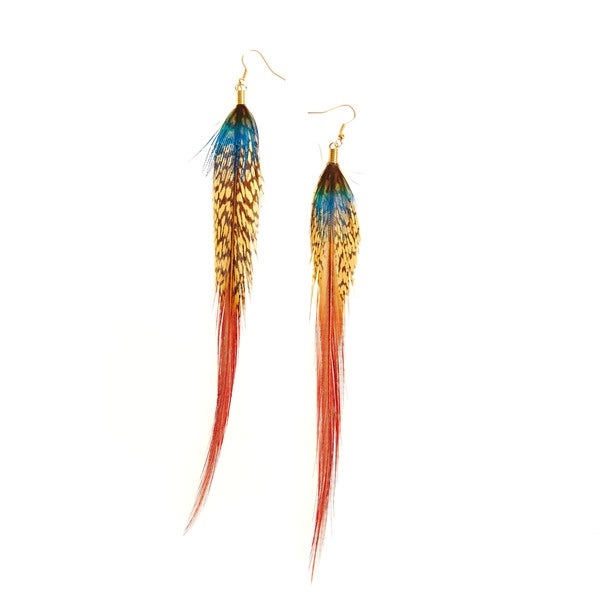 Extra Long Feather Earrings