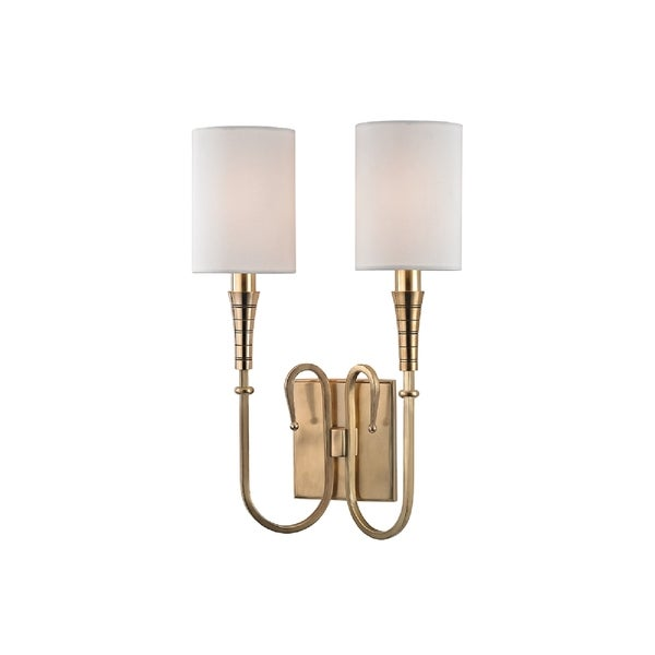 Hudson Valley Lighting Kensington 2-light Wall Sconce, Aged Brass