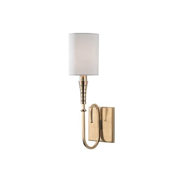 Hudson Valley Lighting Kensington 1-light Wall Sconce, Aged Brass