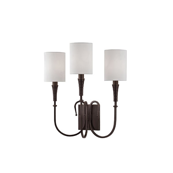 Hudson Valley Lighting Kensington 3-light Wall Sconce, Old Bronze