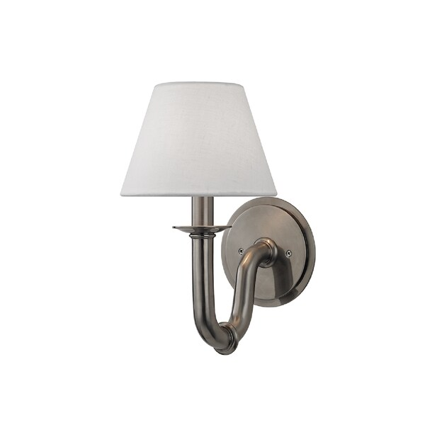 Hudson Valley Lighting Dundee 1-light Wall Sconce, Historic Nickel
