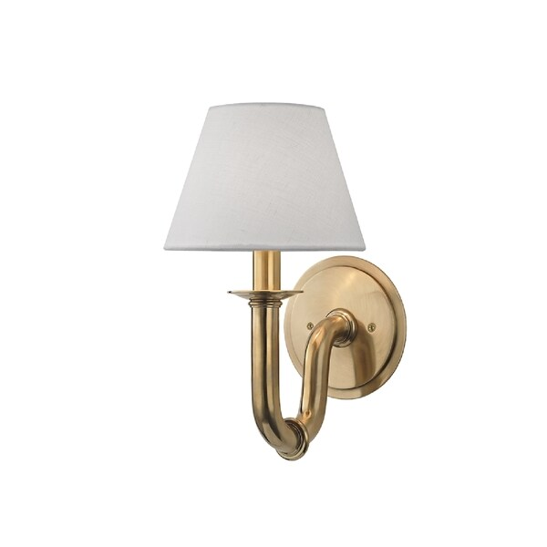 Hudson Valley Lighting Dundee 1-light Wall Sconce, Aged Brass