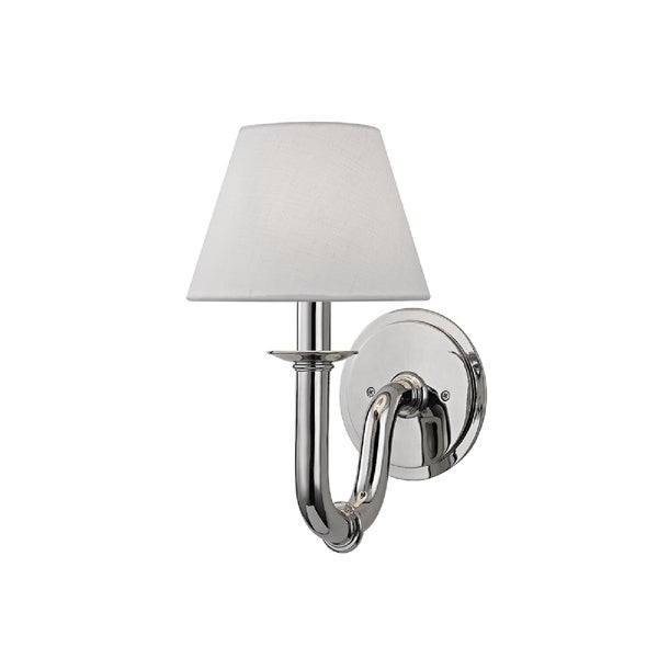 Hudson Valley Lighting Dundee 1-light Wall Sconce, Polished Nickel