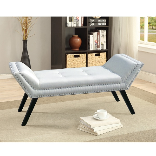Baxton Studio Murdock Matt White PU Leather Upholstered Bench