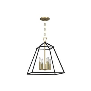 Hudson Valley Lighting Webster 6-light Pendant, Aged Brass
