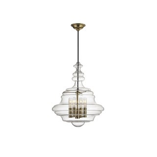 Hudson Valley Lighting Washington 4-light Small Pendant, Aged Brass