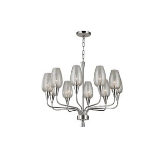 Hudson Valley Lighting Longmont 10-light Chandelier, Polished Nickel