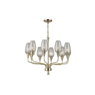 Hudson Valley Lighting Longmont 10-light Chandelier, Aged Brass