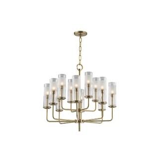 Hudson Valley Lighting Wentworth 12-light Chandelier, Aged Brass