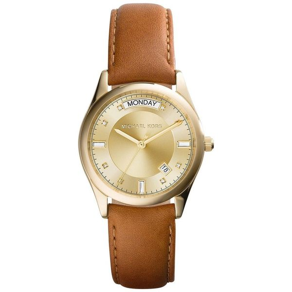Michael Kors MK2374 Women's Colette Leather Watch (Brown)