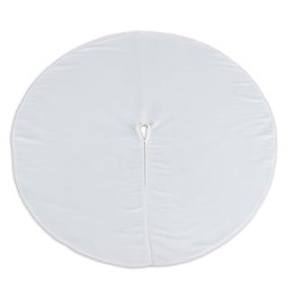 Magnum White Corded 53-inch Round Tree Skirt