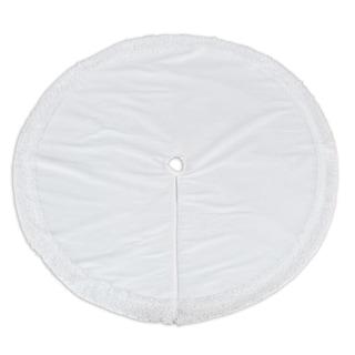 Magnum White Shag Trim 57-inch Round Tree Skirt