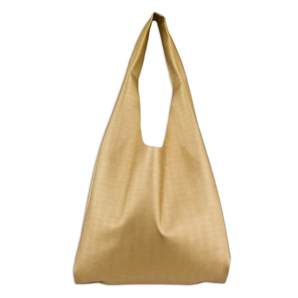 Shimmer Gold Hobo Bag with Pocket