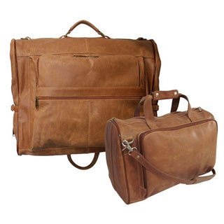 Amerileather Vintage Tan Leather Two Piece Set Traveler (2424-3)
