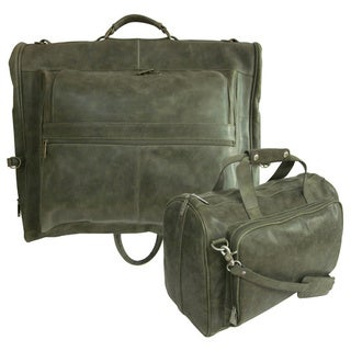 Amerileather Vintage Moss Two-piece Set Traveler (2424-6)