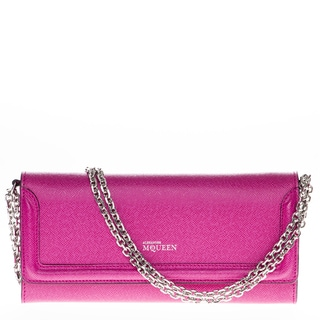 Alexander McQueen Saffiano Leather Chain Wallet