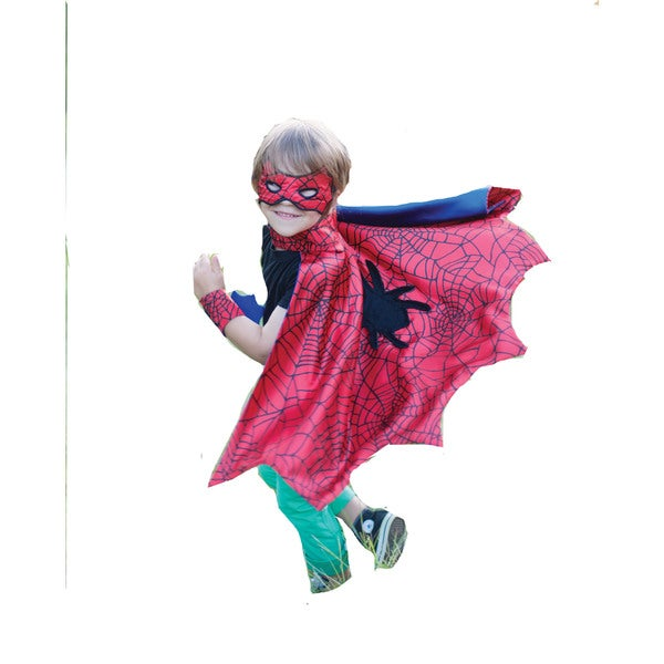 Spider Cape Set with Wristbands and Mask Small
