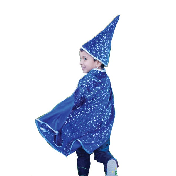 Creative Education Glitter Wizard Cape with Hat Small/ Medium