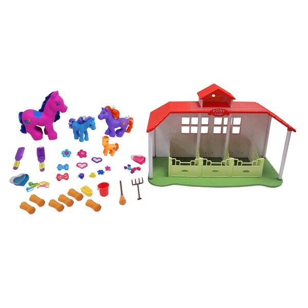 Gi-go Toys Mega Horse Ranch Set 15541935