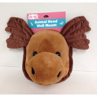 Goffa Animated Plush Moose Head with Wall Mount - Brown