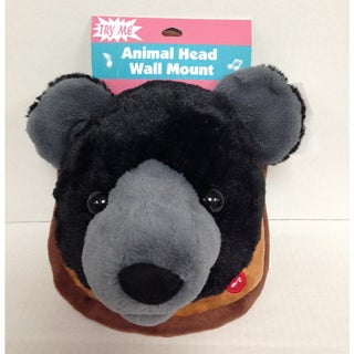 Goffa Animated Plush Bear Head with Wall Mount - Brown