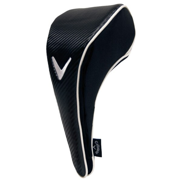 Dual Mag Driver Black, White Headcover