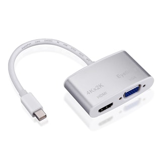Patuoxun Mini DisplayPort Thunderbolt to HDMI/ VGA Converter with Premium Aluminium Case