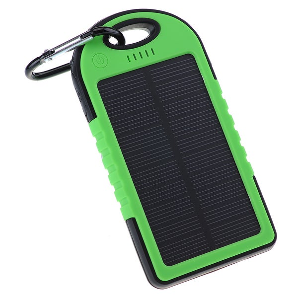 Patuoxun 5000mAh Dual-USB Waterproof Solar Charger Power Bank