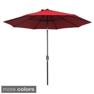 Abba Patio 9 Foot Patio Umbrella Sunbrella Fabric Aluminum Market Umbrella with Auto Tilt and Crank