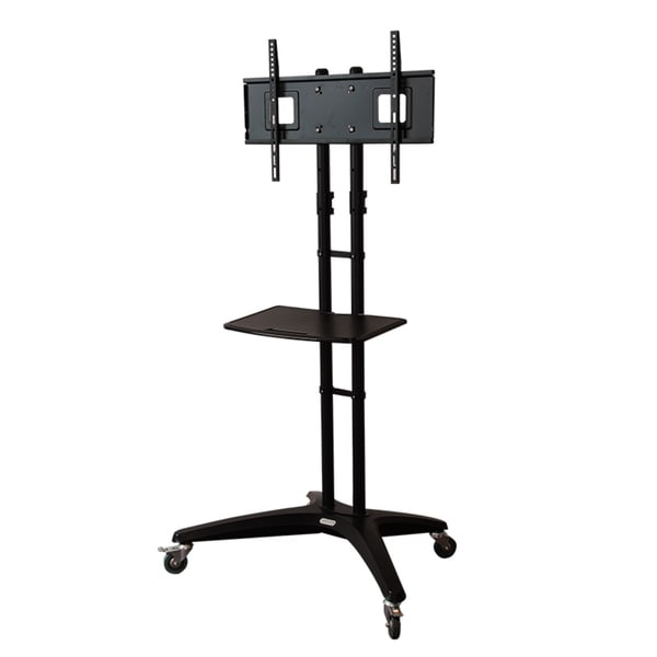 Loctek Wheeled TV Cart with 32 to 65-inch Flat Panel Display Mount TV Mobile Stand
