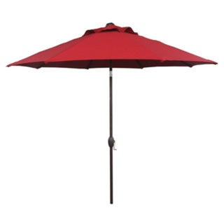 Abba patio 9 foot outdoor patio table aluminum umbrella for Patio table umbrella 6 foot