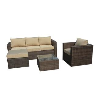 Manhattan Comfort Paisley 4-piece Outodoor Sofa Patio Set