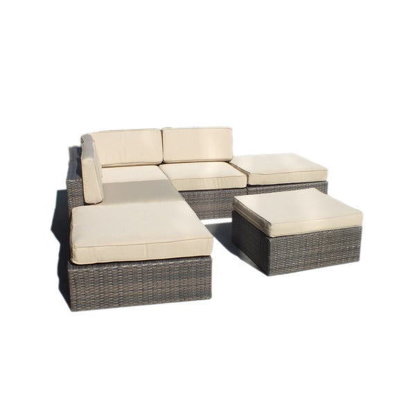 Manhattan fort Robinson L shaped Outdoor Sofa Patio Set Overs