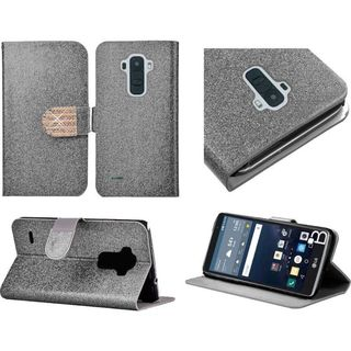 Insten Leather Wallet Flap Pouch Glitter Phone Case Cover with Stand/ Diamond For LG G Stylo
