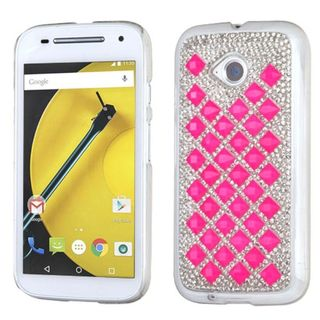 Insten Hard Snap-on Rhinestone Bling Phone Case Cover For Motorola Moto E