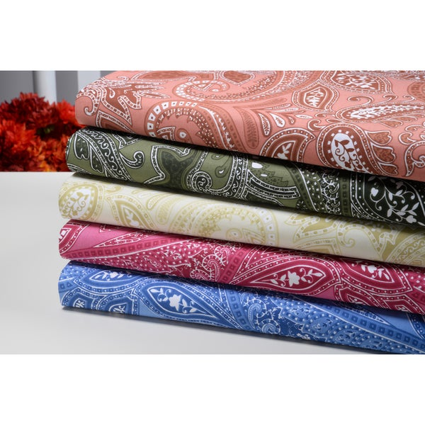 Paisley Collection 500 Thread Count 100-percent Egyptian Cotton Sheet Set (As Is Item)