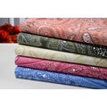 Paisley Collection 500 Thread Count 100-percent Egyptian Cotton Sheet Set