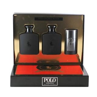 Ralph Lauren Polo Double Black Men's 3-piece Gift Set
