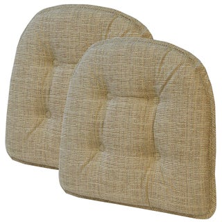 Accord Driftwood Tufted Chair Pad (Set of 2)