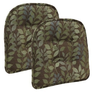 Dora Chocolate Tufted Chair Pad (Set of 2)