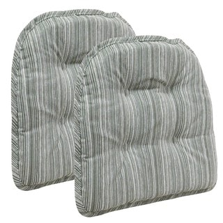 Sophia Celedon Tufted Chair Pad (Set of 2)