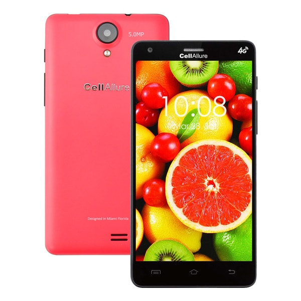 CellAllure Smart III 5-inch Pink Unlocked GSM Dual-SIM 4G 4GB Android 4.2.2 Smartphone