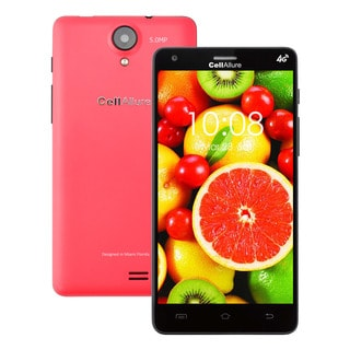CellAllure Smart III 5.0 IPS/ Dual SIM/ 4G HPSD+/ 5-inch Screen/ Pink Factory Unlocked Android Smartphone