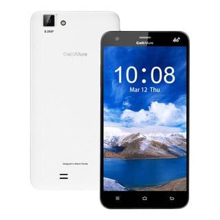 CellAllure Cool 5.5-inch HD Screen Quad-CORE Dual-SIM GSM 4G Unlocked White Smartphone