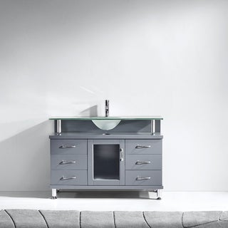 "Vincente 48"" Single Bathroom Vanity Cabinet in Grey"