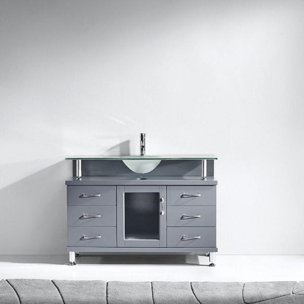 """Vincente 48"""" Single Bathroom Vanity Cabinet in Grey"""