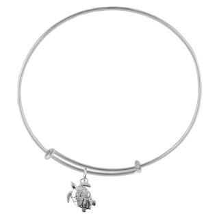 Turtle Sterling Silver Charm Adjustable Bracelet